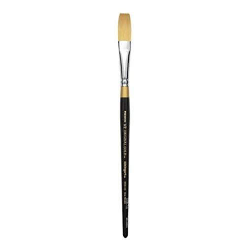 KingArt Original Gold 9100 Series , Premium Artist Brush, Golden TAKLON ONE Stroke-Size: 1/2