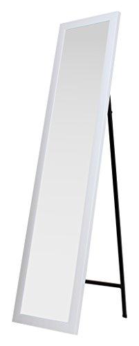 King Home S1710527 Specchio da Pavimento con Cornice, Bianco, 30X150H