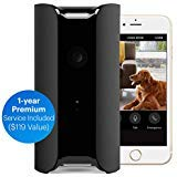 Canary PRO: Smart WiFi Wireless Home Security Camera + 1-Year Premium Plan ~ Built in Siren, Climate Monitor, Motion, Person Sensor, Air Quality Alerts