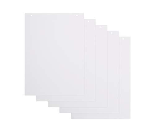 BoardsPlus Blanko Flipchart-Papierblöcke - 5er-Pack A1-Flipchartblöcke, 60 g/m² Papier, 20 Blätter pro Block