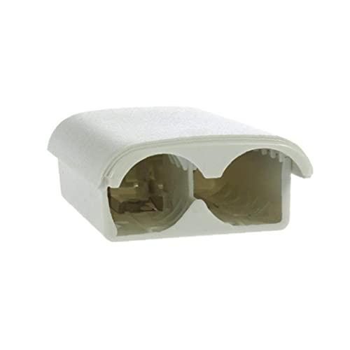 Hainice Reemplazo de la Cubierta de la batería Compatible para el Mando inalámbrico AA batería Caja Blanca