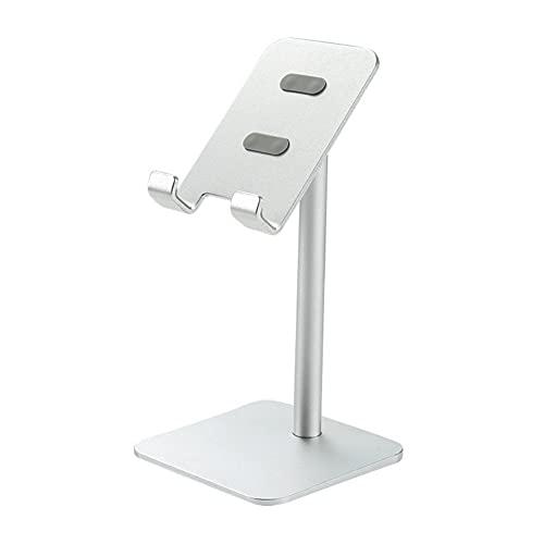 Soporte de teléfono celular WHITULIP, soporte de teléfono ajustable de altura angular para escritorio, soporte de soporte para teléfonos móviles, iPhone, iPad, tableta (4-10in)