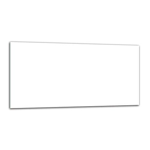 decorwelt | Küchenrückwand Spritzschutz aus Glas 80x40 Wandschutz Herd Spüle Küchenspritzschutz Fliesenschutz Fliesenspiegel Küche Dekoglas Weiß