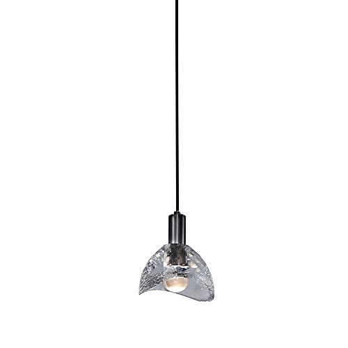 NAMFHZW Nordic Clear Crystal Mini Lámpara Colgante de Techo Todo Acabado en Cobre Lámpara Colgante pequeña LED Lámpara Colgante Semi empotrada Kit de Altura Ajustable Luminaria Casa Club Villa