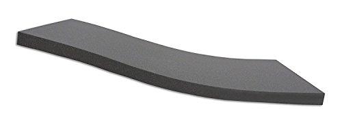 Dibapur ® Black: Orthopädische Kaltschaummatratze/Akustikschaumstoff - H2 - (120x200x5 cm) Ohne Bezug - Made in Germany