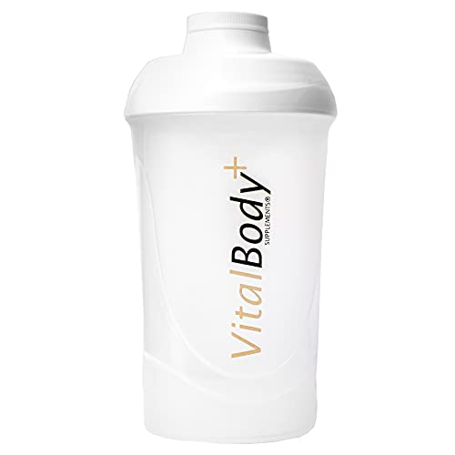 VitalBodyPLUS Protein Shaker 600 ml, BPA-frei, spülmaschinenfest