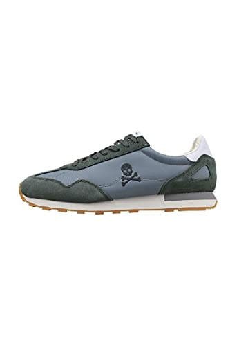 SCALPERS PRAX, Sneakers, para Hombre, Color kaky - Piel/Textil Talla: 43