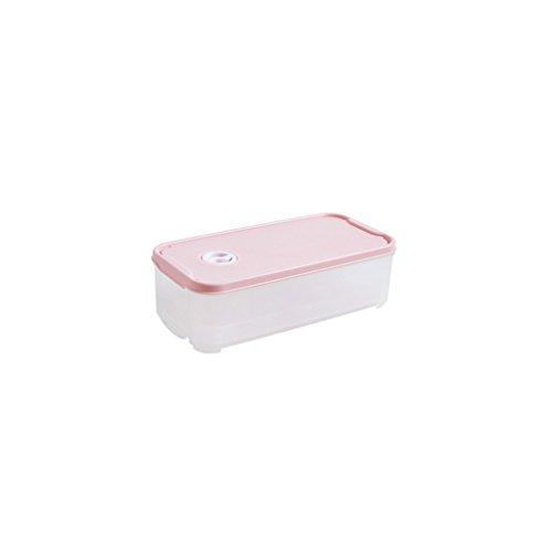 Caja para mudanza Caja del refrigerador Caja del Huevo Cocina Caja del Huevo Hogar Estante for Huevos Caja de Almacenamiento de plástico Caja Fresca (Color : Pink)