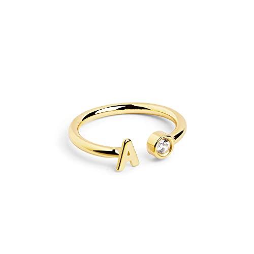Anillo Personalizado Letter Diamond Oro - Z - Joyas mujer