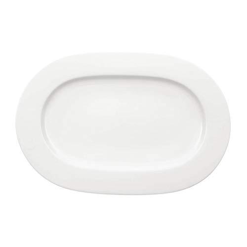 Villeroy & Boch klein Royal Platte oval, Porzellan, weiß, 44.5 x 33.2 x 4 cm