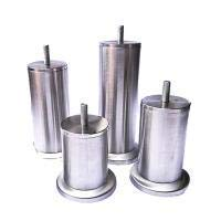 Möbelbein Metall Sofabeine Edelstahl (M8-Schraube) Schrankfüße Silber Tischbeine 4Er-Set