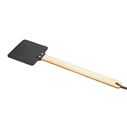 JINGLING Fliegenklatsche, 2er-Pack Leder-Fliegenklatsche mit Holzgriff Manuelles Haushaltsklatsche-Set Schädlingsbekämpfung Fliegenklatsche