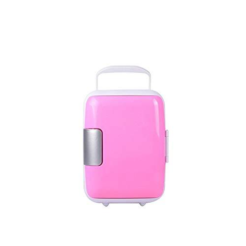 LIXUDECO Mini Nevera Coche Universal Mini refrigerador Congelador portátil Caja de enfriamiento 4L Alimentos de Fruta de Fruta Compresor para for BMW E60 F10 Peugeot 206 (Color Name : Pink)