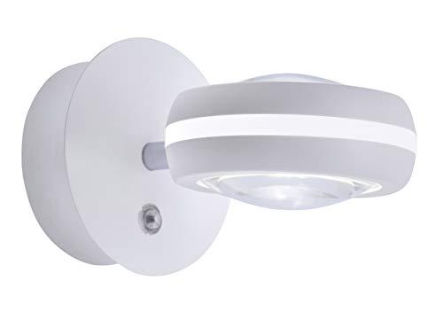 Trio Leuchten Smart Home - Lámpara de pared (metal), color blanco mate