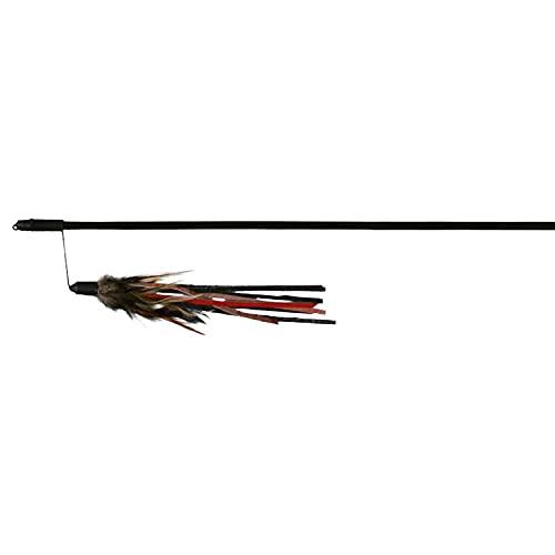 Trixie 4550 Spielangel mit Lederbändchen und Federn, 50 cm