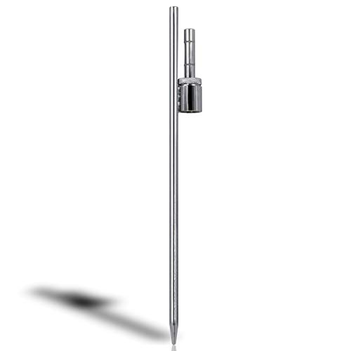 """Anley 20-inch Ground Stake - Stainless Steel Spike with Sleeve Bearing - Fits Flutter Banner Flag Poles with a 0.6"""" Inner Diameter - Feather Flagpole and Flag not Included, Stake Only"""