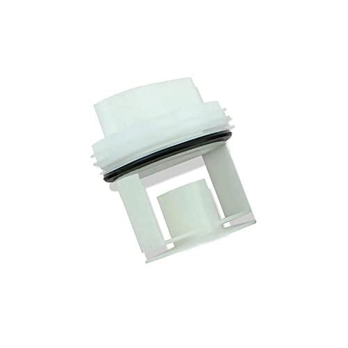 jardín 1 pieza de repuesto para lavadora, bomba de drenaje para lavadora Siemens Bosch WM1095 / 1065 WD7205, accesorios de tapón de tapa de sello de salida de drenaje(color: blanco) ( Color : White )