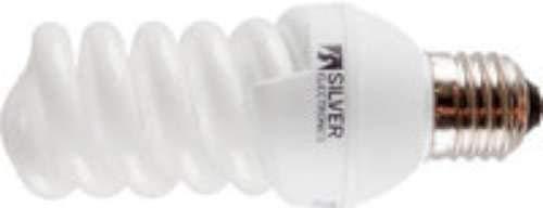 Silver Electronics Mini Full Bombillas de Bajo Consumo, 2700 K E27, 30 W, Luz cálida