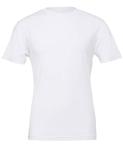 Bella Canvas-fin avec coutures latérales maillot Tee-shirt à col rond Taille XS à XXL - Blanc - Small