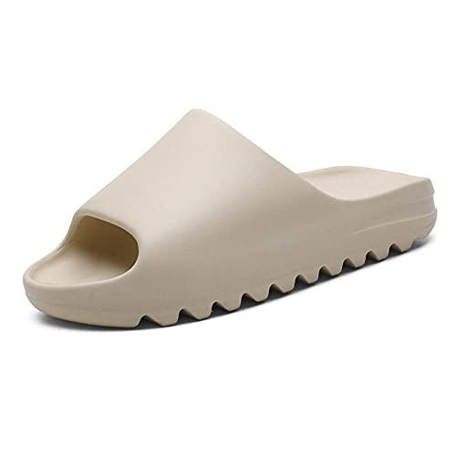CYN Sandalias de Ducha Suaves con Puntera Abierta, Zapatos de Playa Casuales de Gran tamaño Moda de Moda para Hombres Zapatos de Boca de Peces al Aire Libre Zapatos de Arena Transpirables-Beige_39EU