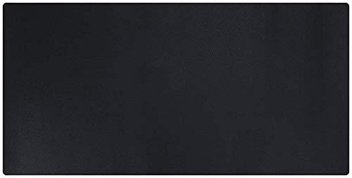 LILAN PUレザー デスクマット 超大型 テーブルマット マウスパッド 防水防汚 清潔やすい 滑り止めデスクマット 書き心地がよい(中-黒)