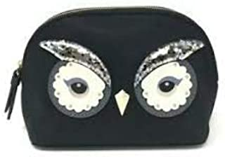 Kate Spade Women's Owl Small Marcy Star Bright Cosmetic Bag Clutch Nylon