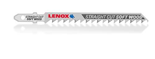 LENOX Tools 1991556 T-Shank Straight Cutting Wood Jig Saw Blade, 4