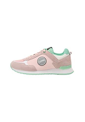 Colmar Travis Colors Sneaker da Donna in Mesh e Pelle Pink/WaterGreen (Numeric_38)