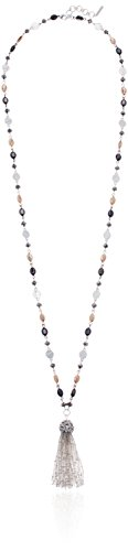 Nine West Klassische Perlen-Quasten-Anhänger Halskette