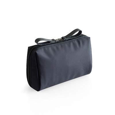 BLI 1pc Solid Cosmetic Bag Ladies Cosmetic Bag Pouch Cosmetic Bag Waterproof Storage Bag Necessities Black