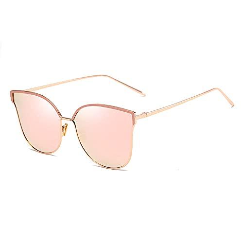 Gafas De Sol para Hombre Y Mujer Moda Metal Gafas ProteccióN para ConduccióN Gafas De Deportes Al Aire Libre De Pesca De Moda Regalo de San Valentín (Color : Pink)