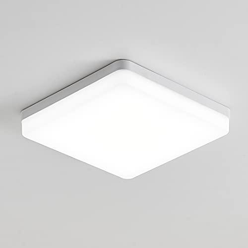 KSIBNW Lámpara de Techo LED para Baño,3240LM,Equivalente a 150 W, Impermeable IP54,Blanco Frío 6500K,Lámpara de Techo para Montaje Empotrado en Interiores, Lámpara de Techo Cuadrada para Sótano