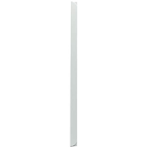 LEO's - 100 x Klemmschienen Weiß DIN A4 (297 mm) FH 3-4 mm für ca. 30 Blatt - Klemmschiene zum Binden von ungelochten Papier Unterlagen und Blattsammlungen - Klemmleiste aus Hart-PVC