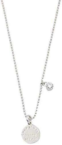 banbeitaotao Collar Mini Collar con Colgante de Letra con Cuentas Redondas Cadena de clavícula Corta para Mujer