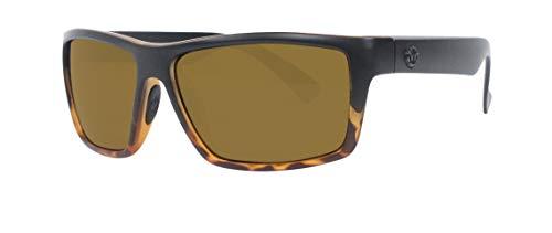 Unsinkable polarizadas hombres de Echo flotante gafas de sol mate BLK Tort Fade CB marrón