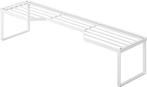 山崎実業(Yamazaki) 排気口カバー上 コンロ奥ラック 60cmコンロ用 ホワイト 約W70XD18XH15cm タワー 高さがある 鍋置き フライパン置き 5264