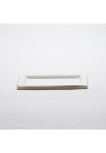 Biosylva - Lot de 50 assiettes canne à sucre Carrées diam 13 x 26 cm