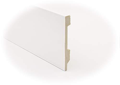 Zócalo - Rodapié Blanco de PVC hidrófugo, 12cm de alto y 220cm de largo