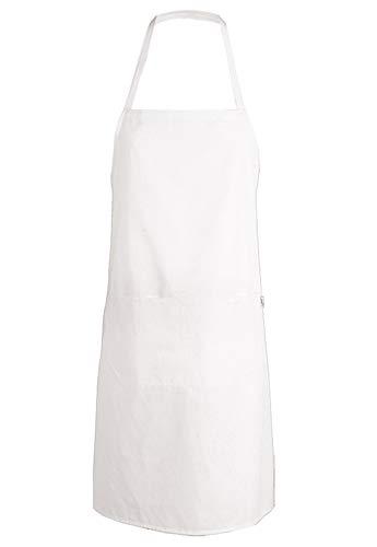 Delantal de Cocina Masterchef. Personalizado con TU Nombre. Poliester-Algodon Blanco o Negro (Blanco)