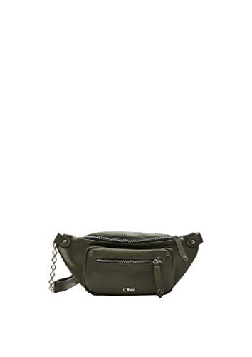 s.Oliver Damen Shoulder Bag mit Ring-Detail khaki 1