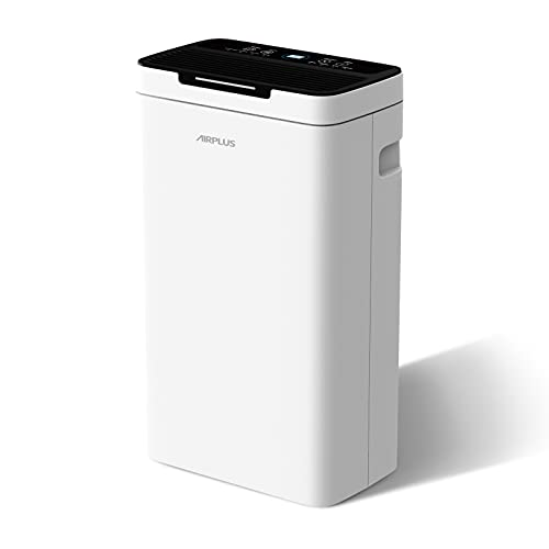 AIRPLUS 30 Pints 1,500 Sq. Ft. Dehumidifier for Basement, Bedroom, Bathroom, Powerful Dehumidifier for Home with Ultra-Quiet Operation, Auto Shut-Off & Drain Hose (AP1907P)
