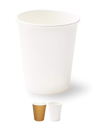 1000/200/100/50 Bicchieri in Carta 240ml Riciclabili Bianco Monouso Biodegradabili Compostabili Premium Quality Acqua caffè Thè Cioccolata Calda Bevande Fredde Ecologico