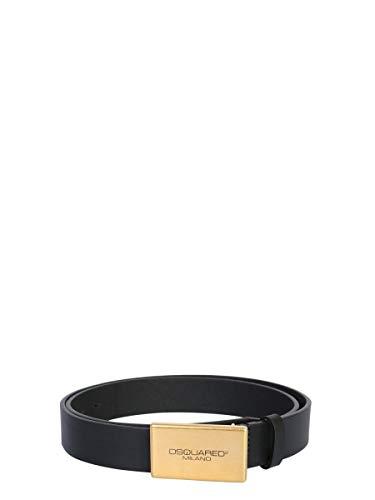 Luxury Fashion | Dsquared2 Heren BEM024412900001M1087 Zwart Leer Riemen | Lente-zomer 20