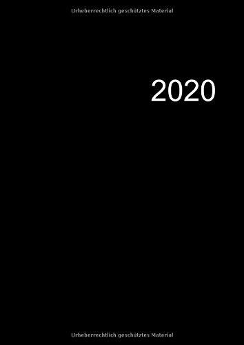 2020: 1 Tag 1 Seite - Der Große Kalender für 2020 im A4 Format - Das Dicke Kalenderbuch mit 371 Seiten inklusive Schulferien und Jahresübersicht - A4 Buchkalender