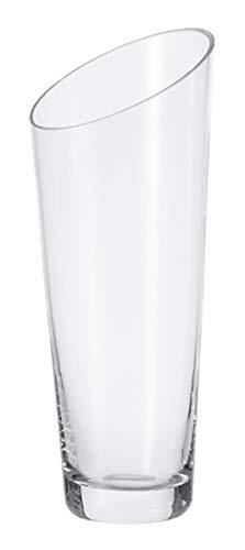Leonardo Vase Dynamic, Höhe 30 cm, handgefertigtes Klarglas, 012304