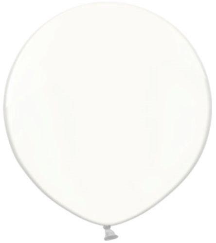 Belbal - palloncini da 60cm, larghi, rotondi, trasparenti, per matrimonio, in lattice confezione da 2
