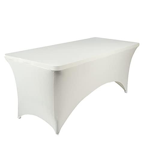 Tovaglia rettangolare allungabile, tovaglia per banchetti di nozze, copertura rettangolare da scrivania