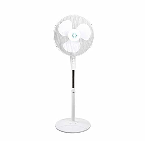 thesecrethome.es | VENTILADOR DE PIE SILENCIOSO REDONDO OSCILANTE DISTANCIA 40W 40 cm | 4 velocidades | Base Estable | Fácil montaje | Altura del ventilador regulable.
