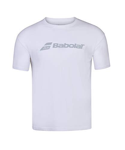 Babolat Exercise tee Men Camiseta, Hombre, White/White, 2XL