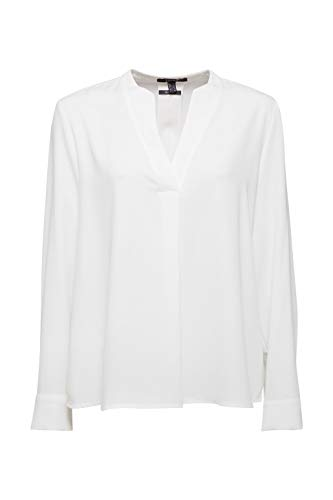 ESPRIT Collection Damen 110EO1F315 Bluse, 110/OFF White, 36
